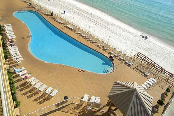 Tina's Treasure Island 3 BR Luxury Beach Condo - View of Pool from Balcony