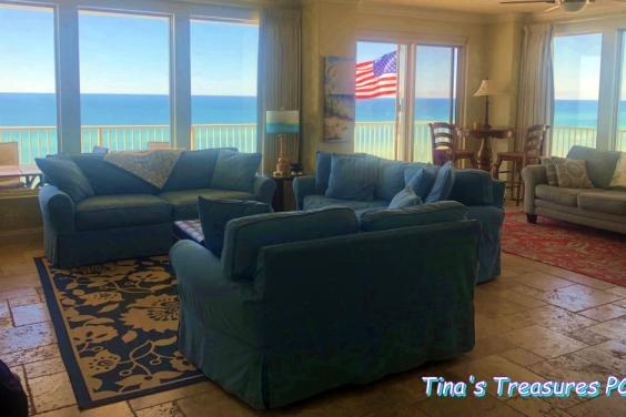 Great room with view of Gulf of Mexico