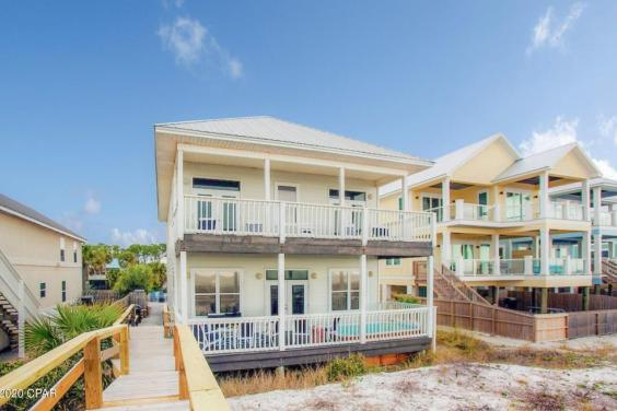 Enjoy the private walkway from the beach to your deck!