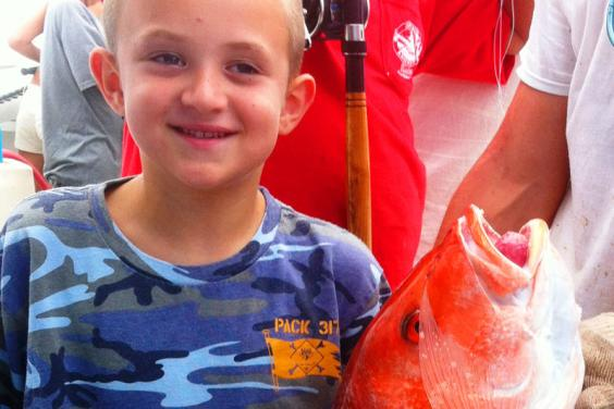 Alex and Red Snapper