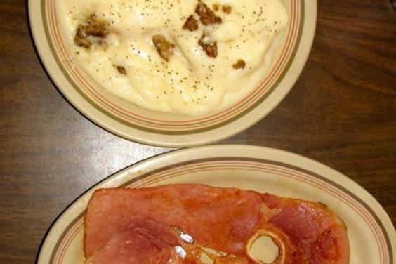 Country Ham and a Small Biscuit & Gravy