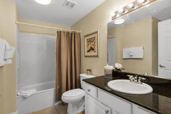 3rd bath with tub, vanity and privacy!