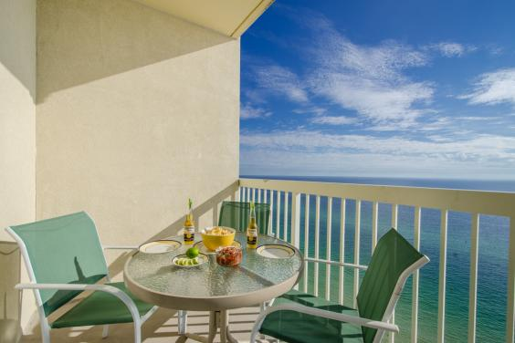 Enjoy a snack or dinner on the balcony