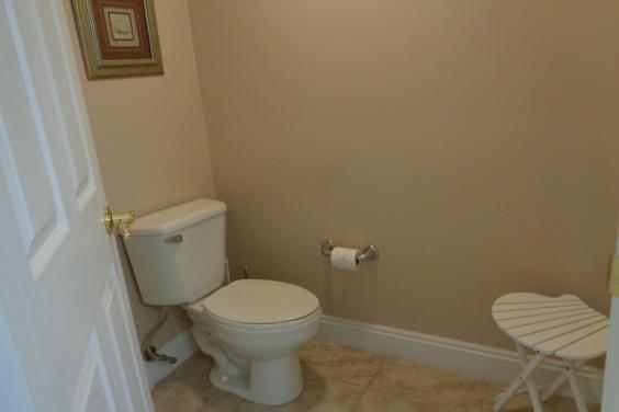 private commode area for those special moments