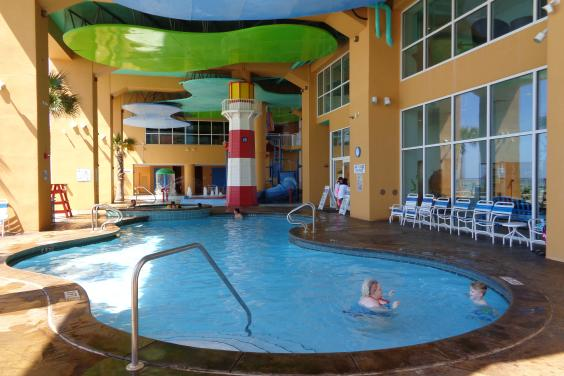Two pools...west tower...with hot tub, game room