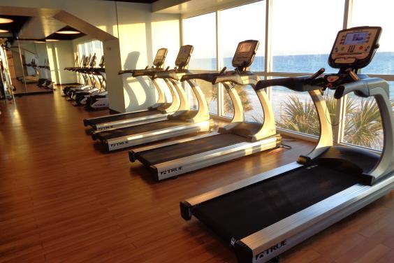 State of the art exercise equipment...overlooking the oceanfront
