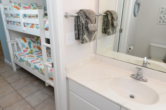 bunk and 1/2 bath