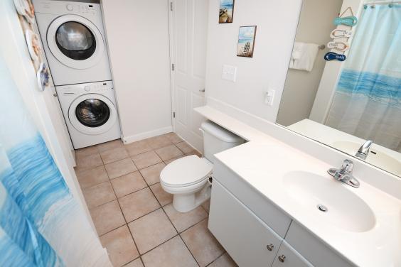 Guest Bath/Laundry Area