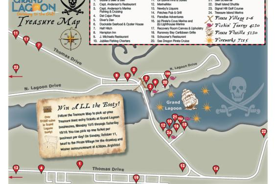 Grand Lagoon Pirate Treasure Map 2015