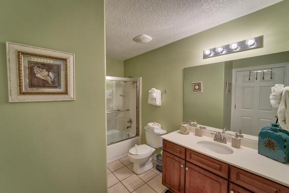 Guest Bathroom with full shower - blowdryer provided