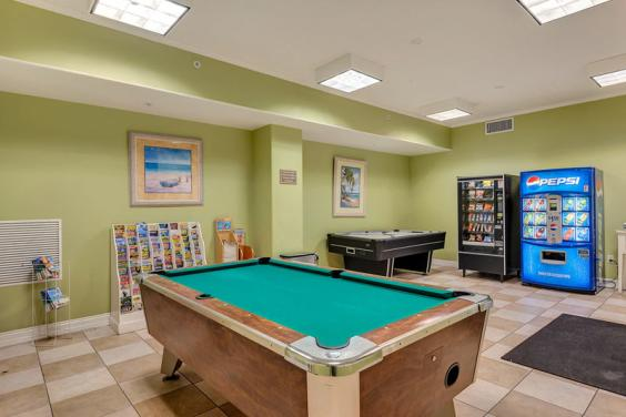Gulf Crest's Game room.