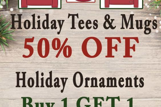 HOLIDAY ITEMS 50% OFF SALE