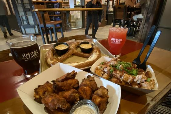 Food at History Class Brewery