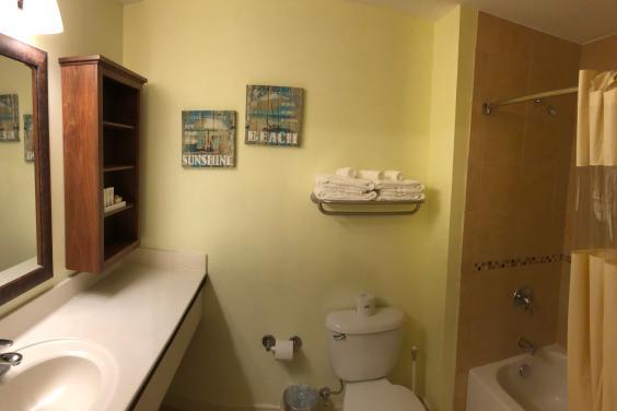 Spacious Bath with tub/shower combo.