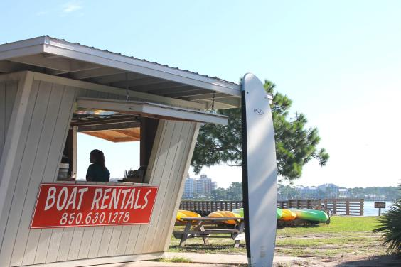 Pontoon Boat Rentals Booth