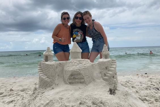 Girl's Sandcastle