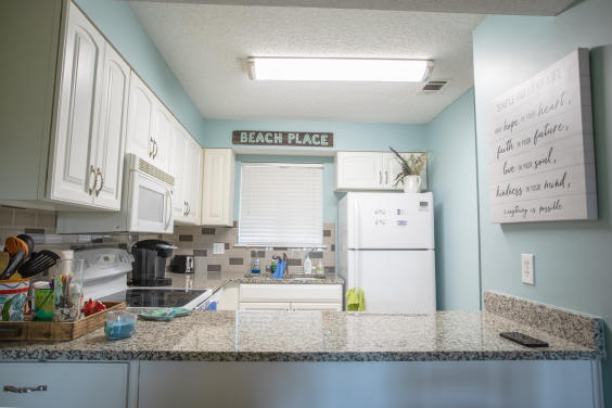 With an open kitchen, you can see your family at all times!