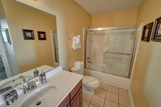 Private Master bath with full shower - blowdryer provided