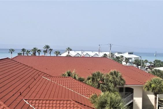 Gulf view from upper balcony