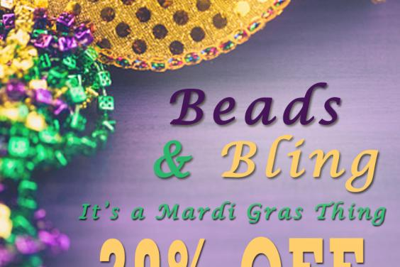 Mardi Gras Beads & Bling Special