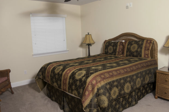 Fifth bedroom is large and cozy!