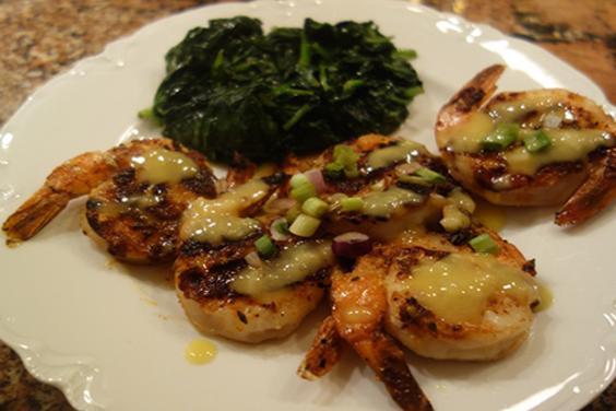 Seafood PCB-Blackened Shrimp & Hollandaise-Boars Head Restaurant