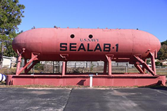Sealab I at the Man in the Sea Museum, Panama City Beach, Fl