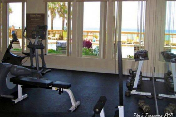 Fitness Center overlooking pool, beach & Gulf Can't beat the view!