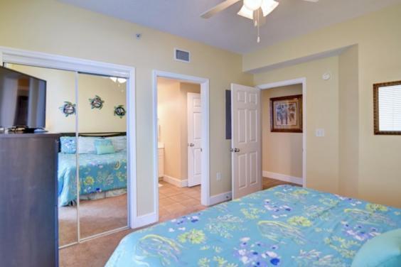 Bedroom into bath and hall