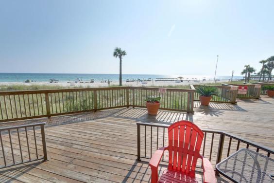 Beachfront private patio