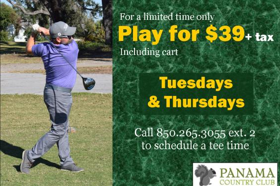 Play for $39 Tuesdays & Thursdays