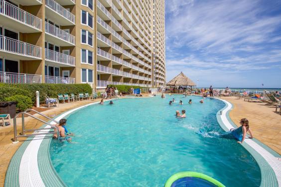 Beachside pool and Tiki Bar