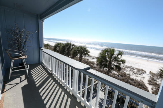 View from the second floor balcony!