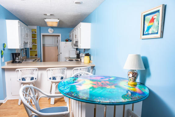 Beautiful coastal decor is found throughout this townhome!