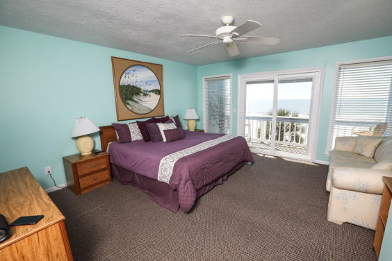 Large master bedroom has a private balcony!