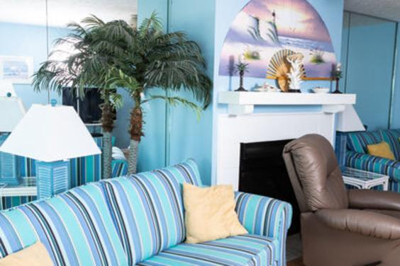Curl up on one of the couches and enjoy the sound of the waves!