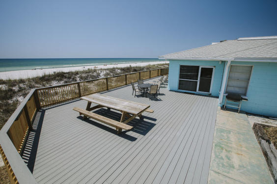 Large deck is perfect for soaking up the sun!