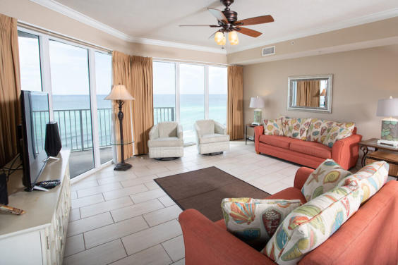 Beautiful views await you in the cozy living room!