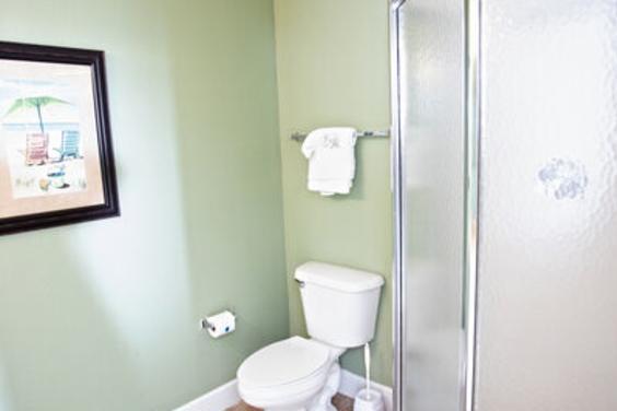Third bathroom has a large shower!