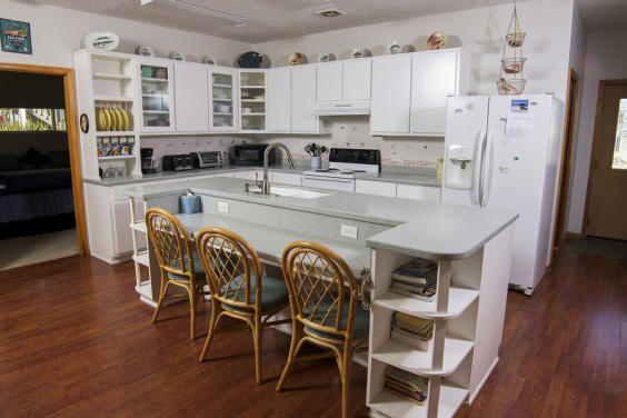 Large, open kitchen has everything you need to cook a meal!