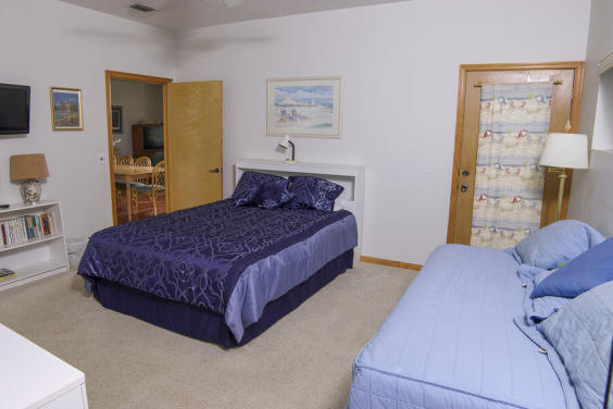 Fourth bedroom is large and perfect for a movie night!