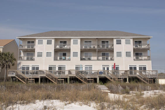 Beach view of the beautiful Southern Exposures Townhomes!