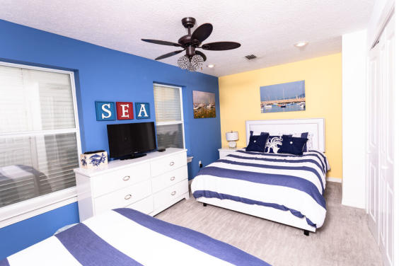 Fourth bedroom is large and cozy!