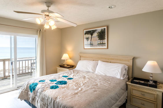 One of TWO beachfront master bedrooms with private balcony!