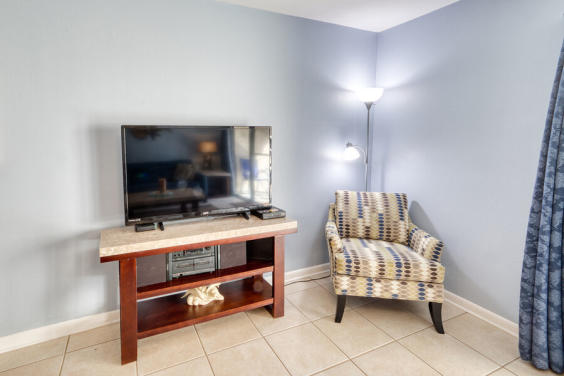 With a DVD player and cable, you can enjoy a movie with your family!
