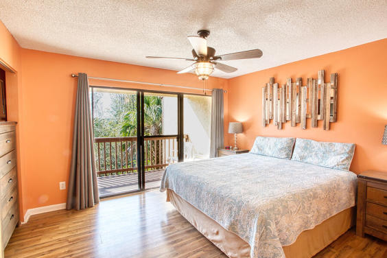 Enjoy waking up to the beautiful view in this bright Master bedroom!