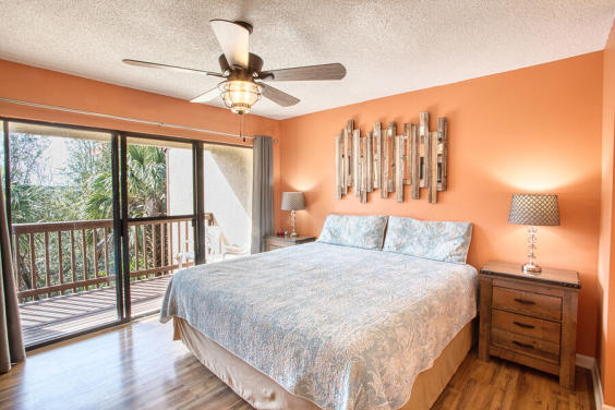 With a King size bed, this Master bedroom is spacious and comfortable!