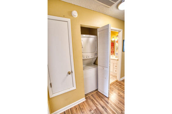 In-unit washer and dryer is on the second floor!