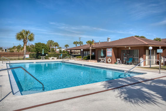 With a large community pool, you can take a break from saltwater!