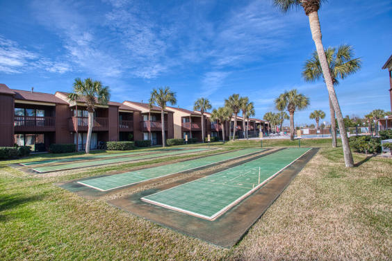 Shuffleboard court is a great way to spend an afternoon!